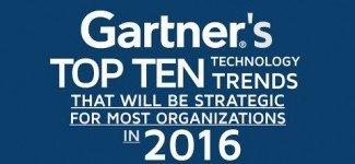 Gartner Top 10 Hot Technology Trends for 2016