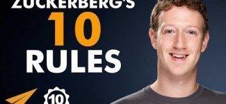 Mark Zuckerberg's Top 10 Success Rules