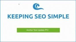 SEO Anchor Text Update